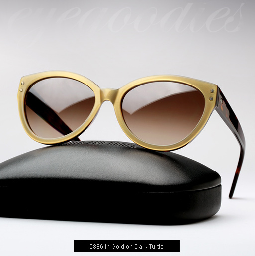 Cutler and Gross 0886 Sunglasses - Gold on Dark Turtle