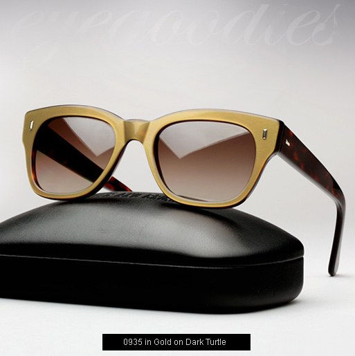 Cutler and Gross 0772 Sunglasses - Gold on Dark Turtle