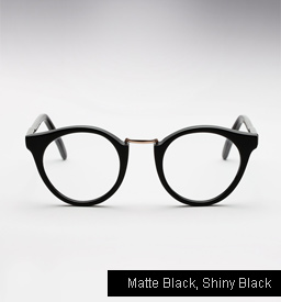 Cutler and Gross 1060 - Matte Black, Shiny Black temples