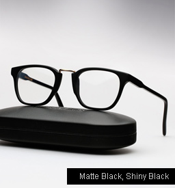 Cutler and Gross 1061 eyeglasses - Matte Black, Shiny Black Temples