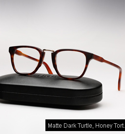 Cutler and Gross 1061 - Matte Dark Turtle, Honey Tortoise Temples