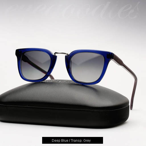 Cutler and Gross 1066 - Deep Blue with Transp. Grey Temples