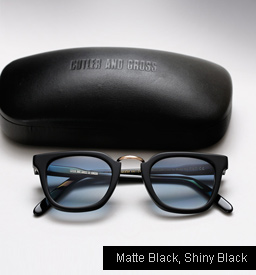Cutler and Gross 1066 - Matte Black, Shiny Black temples