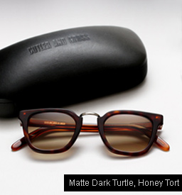 Cutler and Gross 1066 - Matte Dark Turtle, Honey Tortoise temples