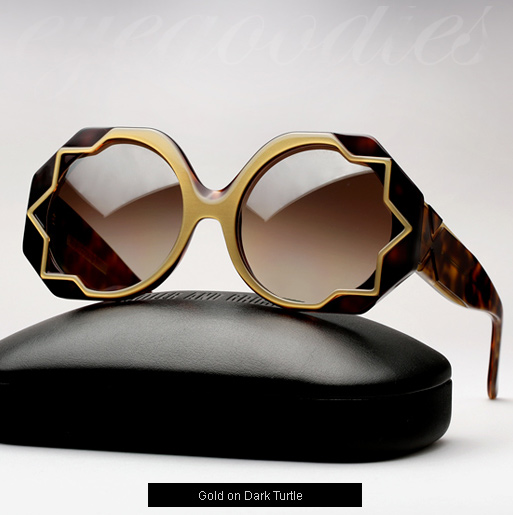 Cutler and Gross 1072 sunglasses - Gold on Dark Turtle