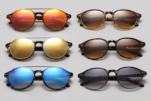 Shop Garrett Leight X Thierry Lasry Number 1 sunglasses