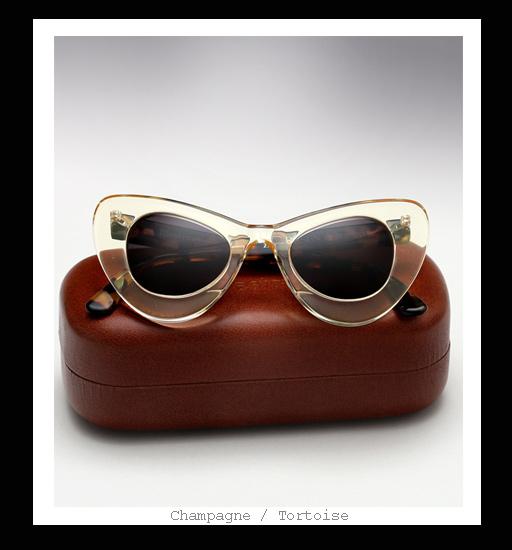 Illesteva X Zac Posen Sunglasses - Champagne / Tortoise
