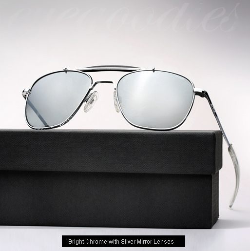 RE X Michael Bastian, Aviator II Sunglasses - Bright Chrome