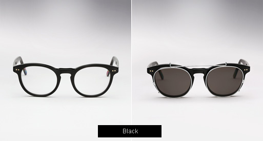 Randolph Engineering X Michael Bastian, JD Clip On sunglasses - Black