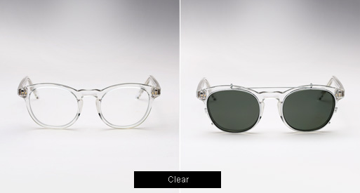 Randolph Engineering X Michael Bastian, JD Clip On sunglasses - Clear