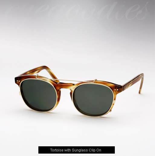 Randolph Engineering X Michael Bastian, JD Clip On sunglasses - Tortoise