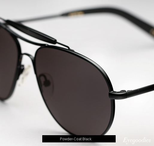 Garrett Leight Speedway T sunglasses - Powder Coat Black