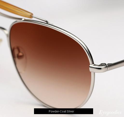 Garrett Leight Speedway T sunglasses - Powder Coat Silver