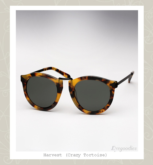 Karen Walker Harvest sunglasses - crazy tortoise