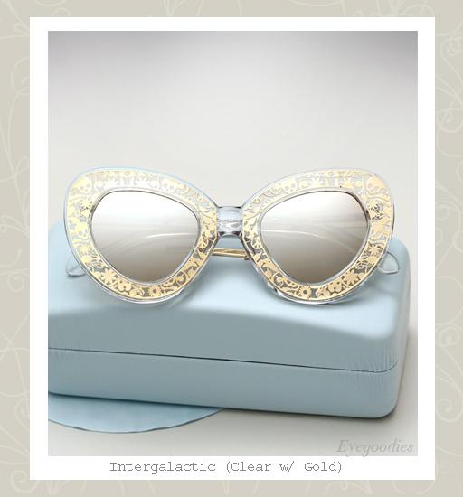 Karen Walker Intergalactic sunglasses - Clear / Gold