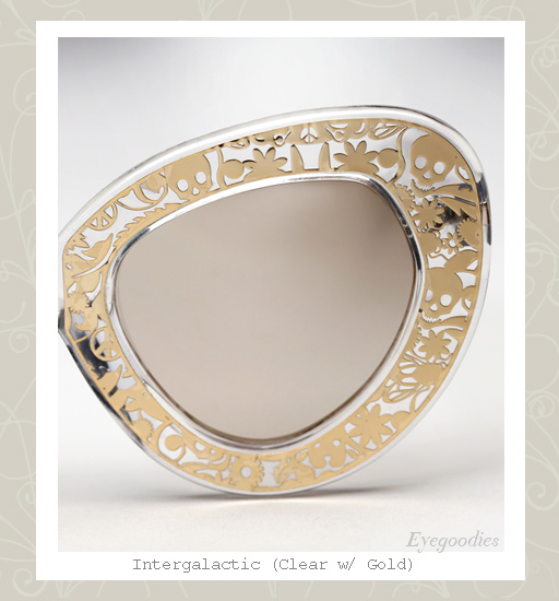 Karen Walker Intergalactic sunglasses - Clear / Gold