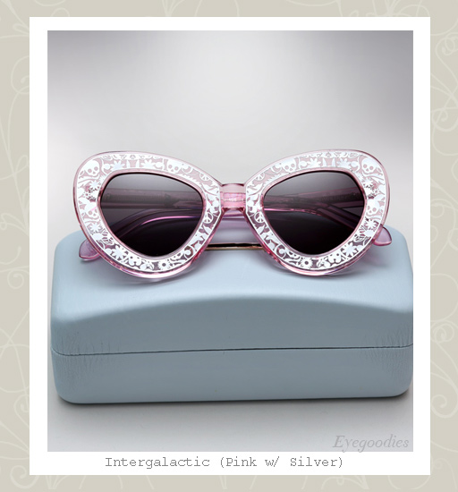 Karen Walker Intergalactic sunglasses - crystal pink