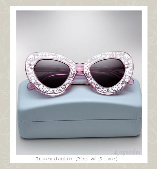 Karen Walker Intergalactic sunglasses - crystal pink