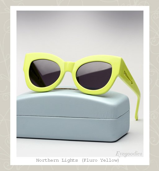 Karen Walker Northern Lights sunglasses - Fluro Yellow