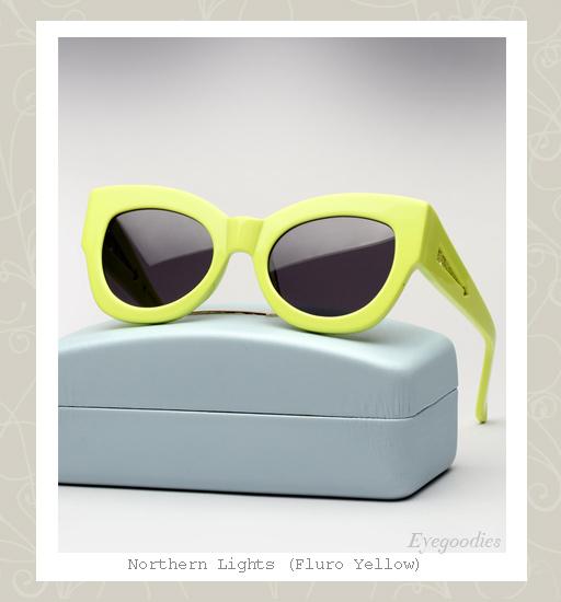 Karen Walker Northern Lights sunglasses - Fluro Yellow