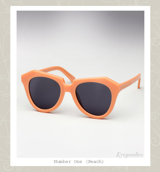 Karen Walker Number One sunglasses - Peach