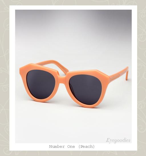 Karen Walker Number One sunglasses - Peach