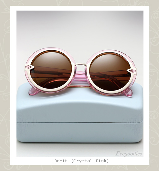 Karen Walker Orbit sunglasses-Crystal Pink