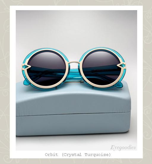 Karen Walker Orbit sunglasses-Turquoise