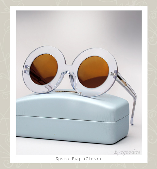 Karen Walker Space Bug sunglasses-Clear