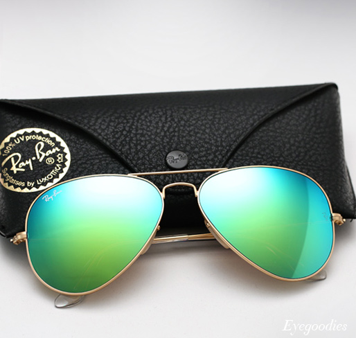 ray ban mirrored aviators  ray ban aviator rb 3025 colored mirror sunglasses