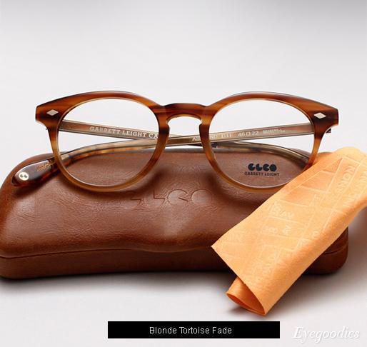 Garrett Leight Ashland eyeglasses - Blonde Tortoise Fade