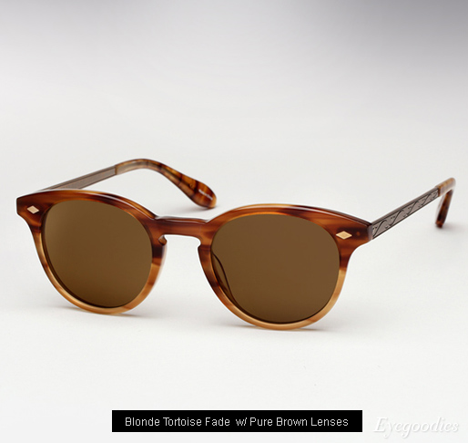 Garrett Leight Ashland sunglasses - Blonde Tortoise Fade