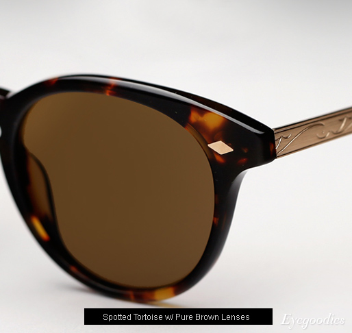 Garrett Leight Ashland sunglasses - Spotted Tortoise