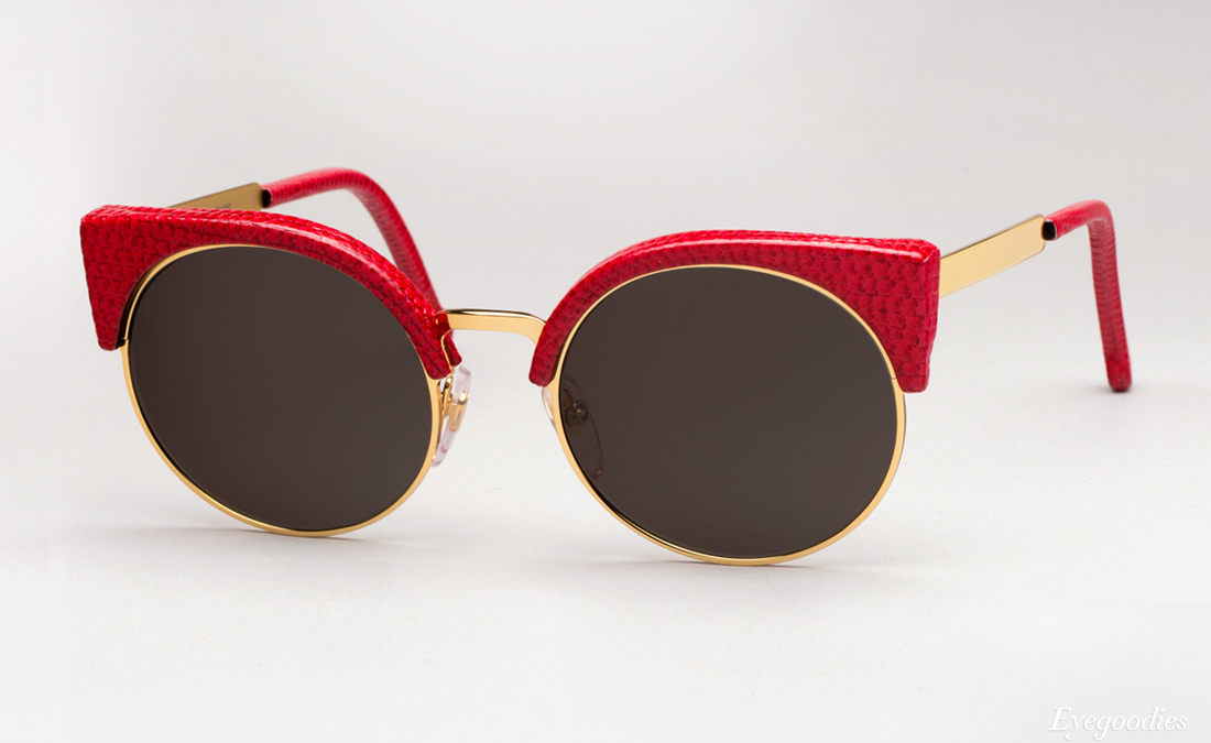 Super Lucia Ilaria Lizard sunglasses - Red