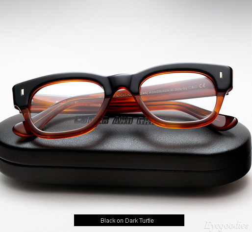 Cutler and Gross 0772 Eyeglasses - Black on Dark Turtle
