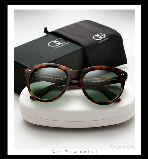 3d42e8fa46b ... Oliver Goldsmith Manhattan sunglasses - Dark Tortoiseshell