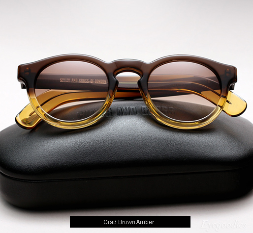 Cutler and Gross 1083 sunglasses - Grad Brown Amber