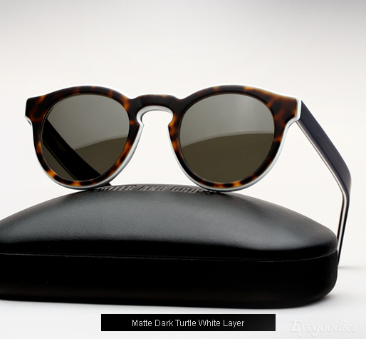 Cutler and Gross 1083 sunglasses - Matte Dark Turtle White Layer