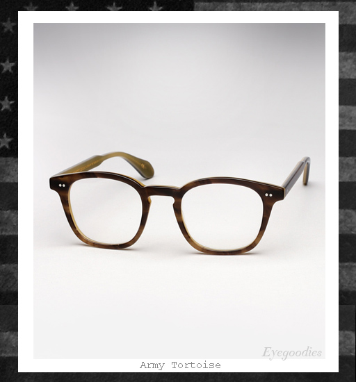 Garrett Leight x Mark McNairy Eyeglasses - Amry Tortoise