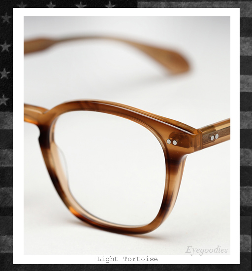 Garrett Leight x Mark McNairy Sunglasses - Light Tortoise