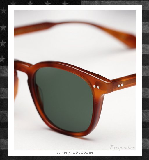 Garrett Leight x Mark McNairy Sunglasses - Honey Tortoise