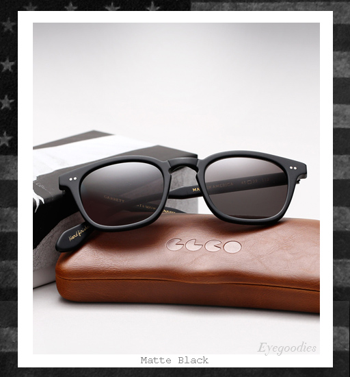 Garrett Leight x Mark McNairy Sunglasses - Matte Black