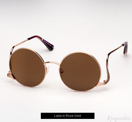 House of Harlow Layla sunglasses - Rose Gold