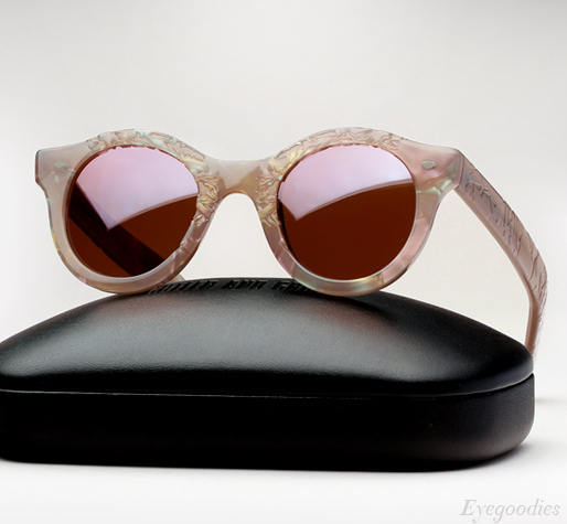 Cutler and Gross 737 sunglasses - Frost on Lilac Pearl