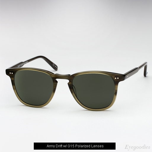 Garrett Leight Brooks sunglasses - Army Drift