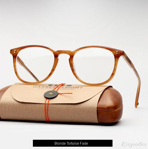 Garrett Leight Kinney eyeglasses - Blonde Tortoise Fade