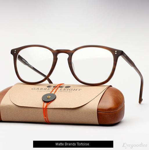 Garrett Leight Kinney eyeglasses - Matte Brandy Tortoise