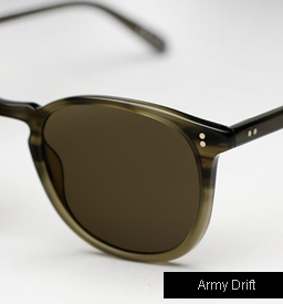 Garrett Leight Kinney Sunglasses - Army Drift