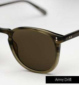Garrett Leight Kinney Sunglasses - Army Drift