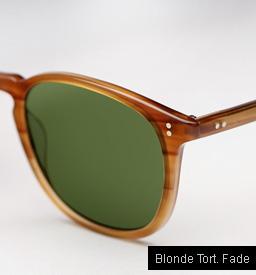 Garrett Leight Kinney Sunglasses - Blonde Tortoise Fade